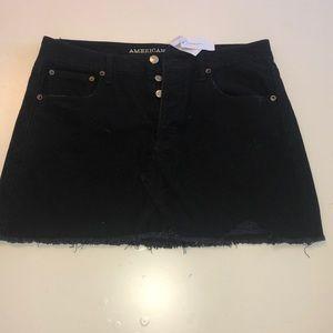 American Eagle Black Jean Skirt